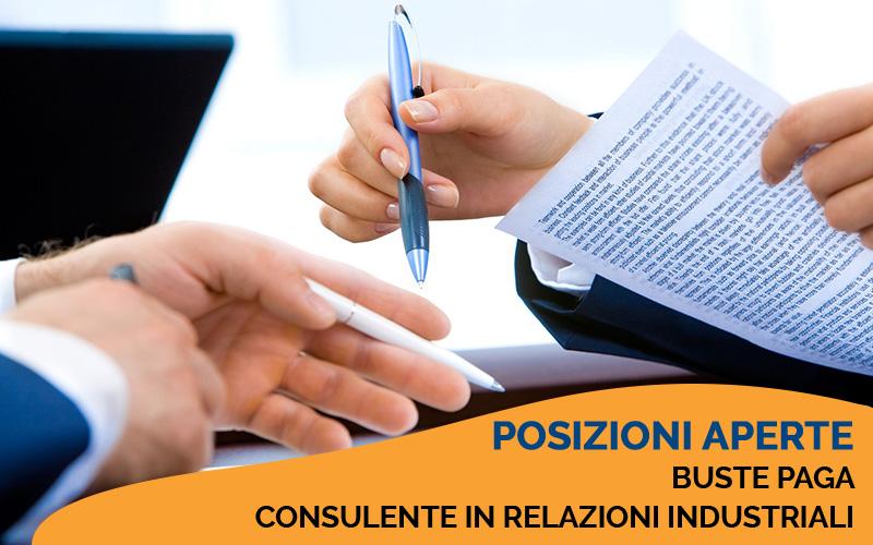POSIZIONI APERTE | Addetti paghe e Consulente in relazioni industriali