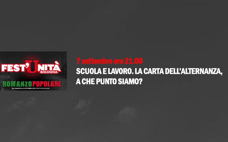 Eventi | Il Direttore di Ecipar Bologna, Luca Roversi, alla Festa dell'Unità per parlare di Alternanza