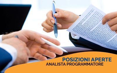 POSIZIONI APERTE | Analista Programmatore