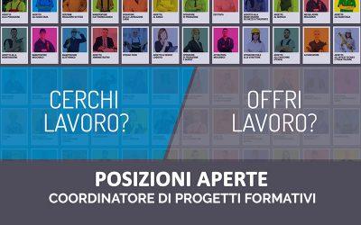POSIZIONI APERTE | Coordinatore di progetti formativi